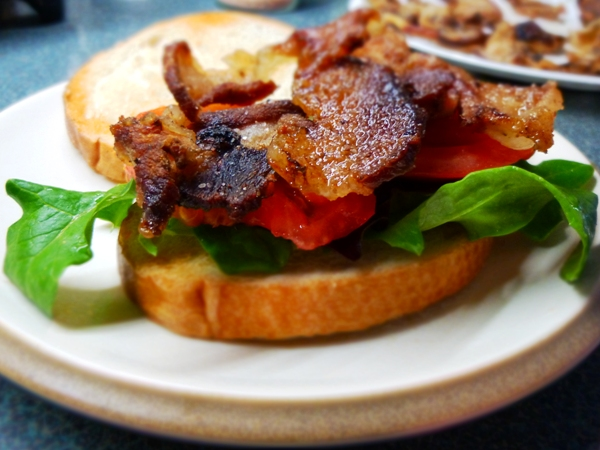A new twist on an old favorite, the BLT. Use Jowl instead of Bacon and it's a JLT!